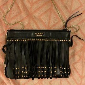 Victoria's Secret Vegan Leather Black and Gold Bag
